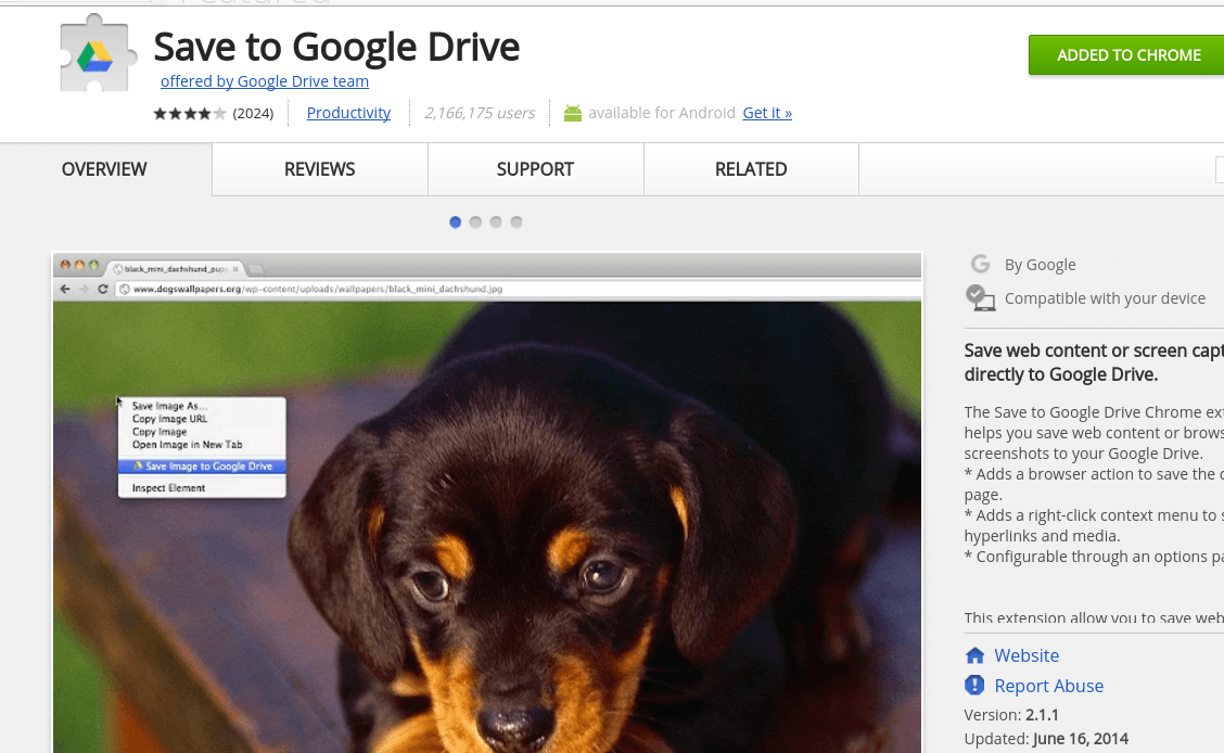 save resume keywords and power verbs with the save to google drive application